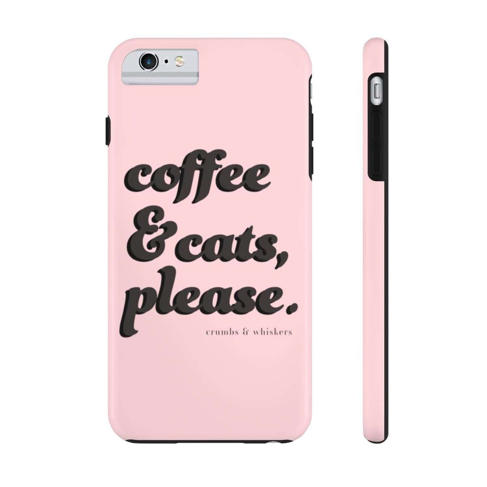 Coffee & Cats (Black Bubble) | Phone Case