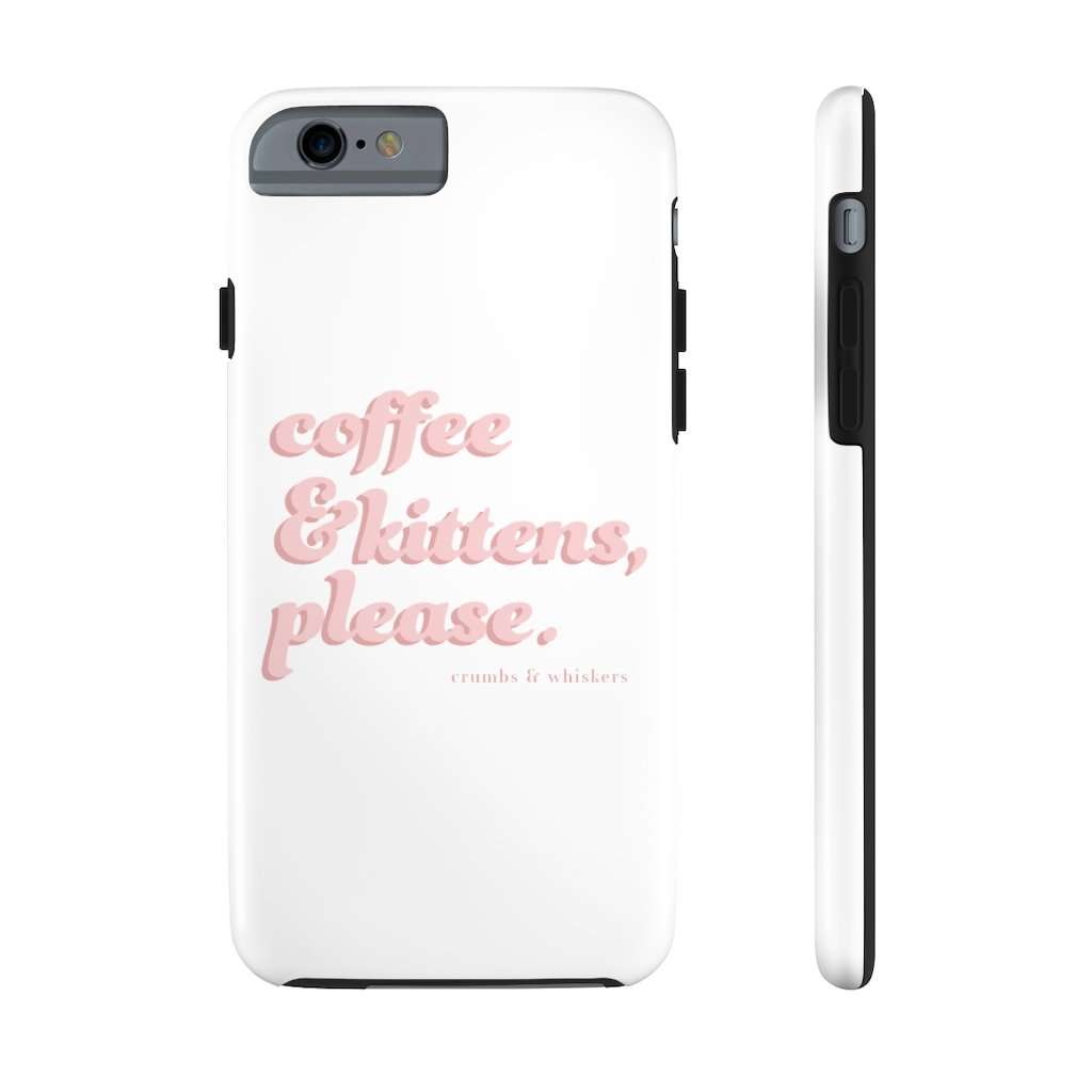 Coffee & Kittens (Pink Bubble) | Phone Case