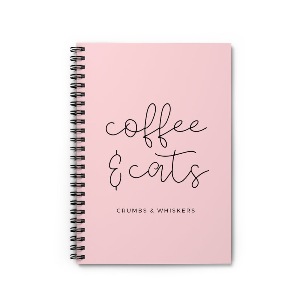 Coffee & Cats (Cursive) | Notebook