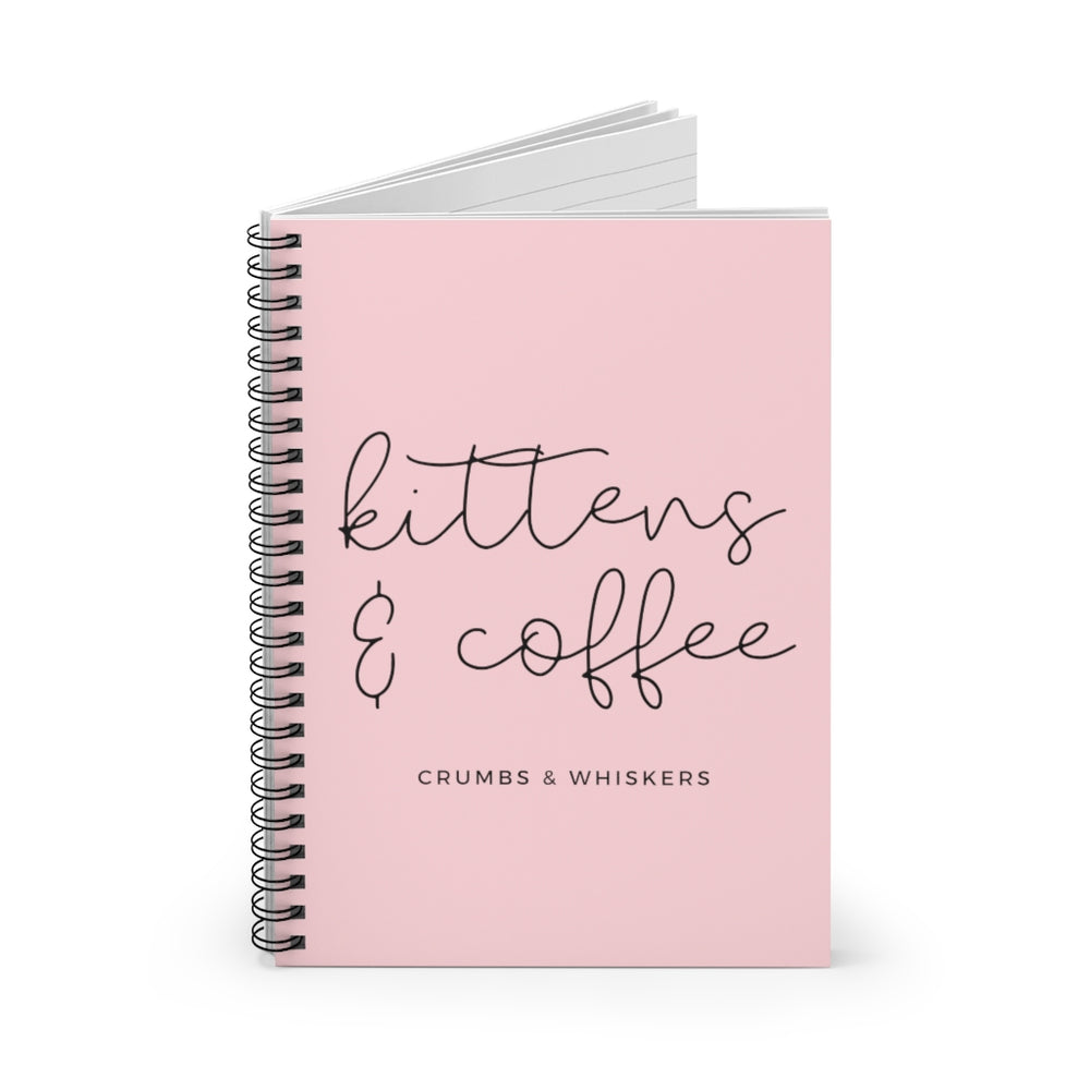 Kittens & Coffee (Cursive) | Notebook