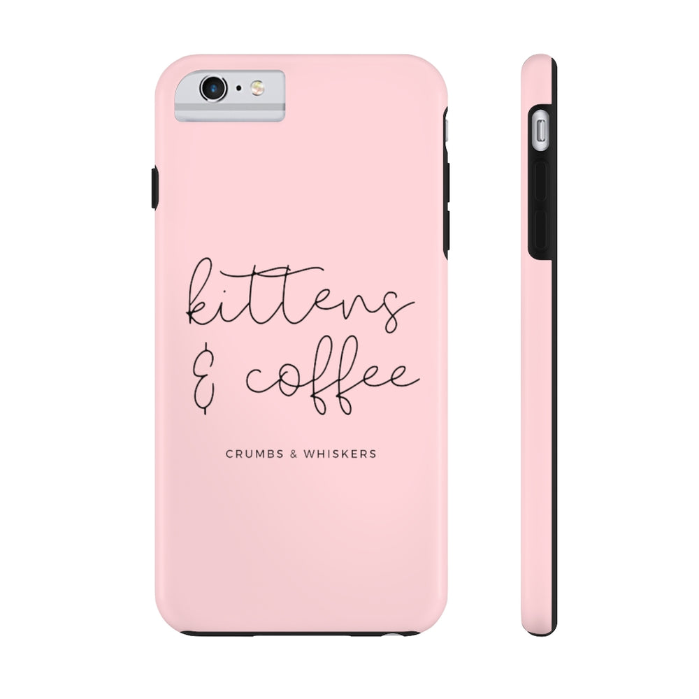 Kittens & Coffee (Cursive) | Phone Case