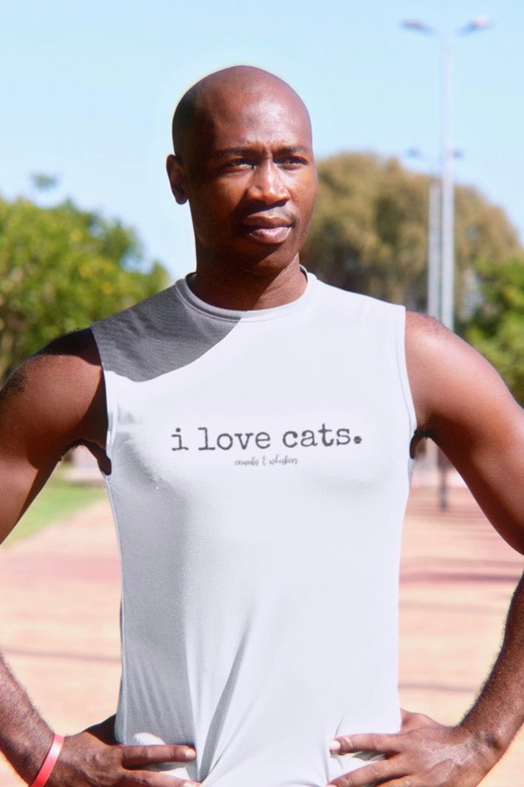 i love cats. | Bro Tank