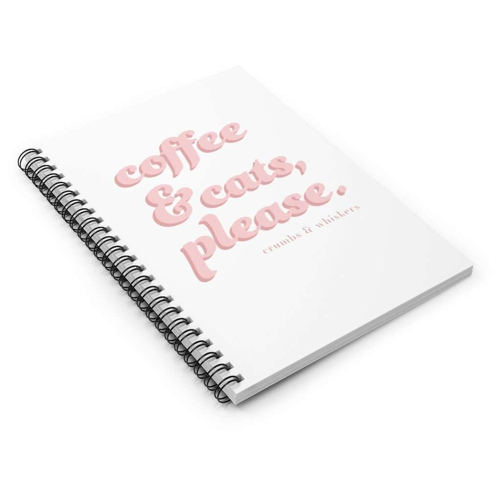 Coffee & Cats (Pink Bubble) | Notebook