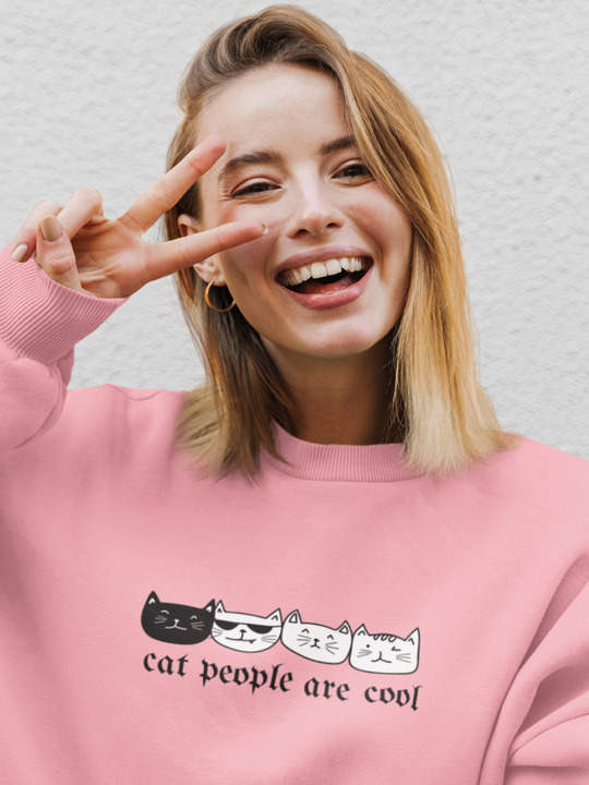 Cat People Are Cool | Crewneck