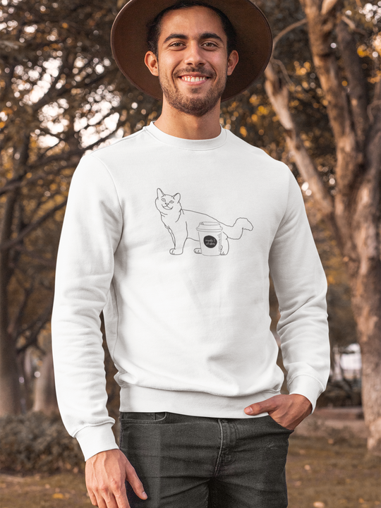 Cat with Coffee | Crewneck