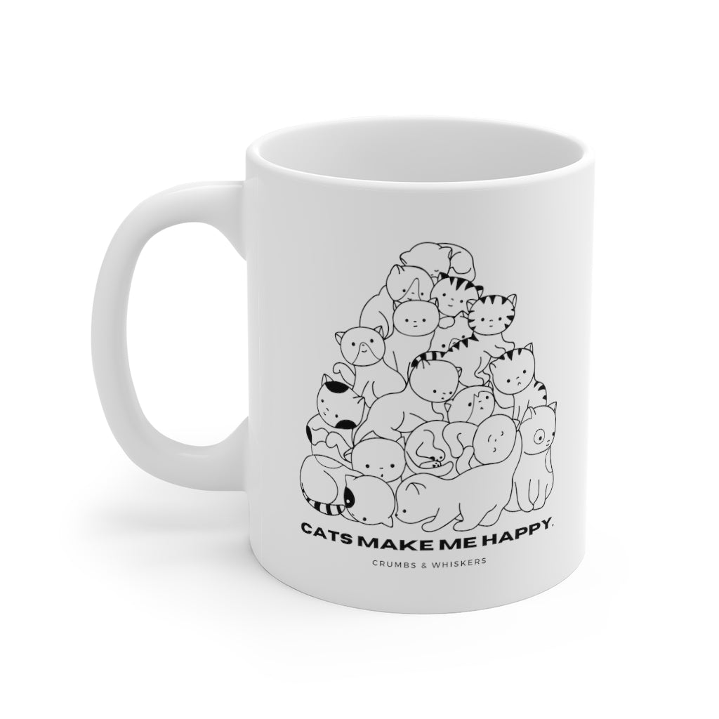 Cats Make Me Happy | Mug 11oz