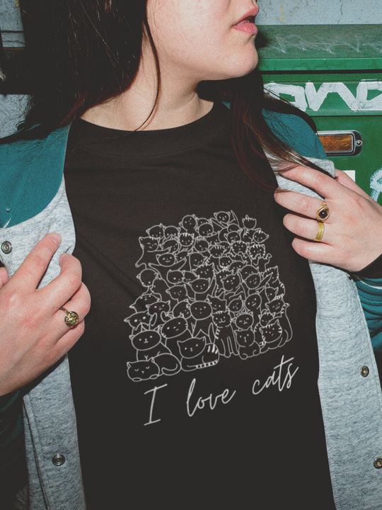 I love cats | Crewneck