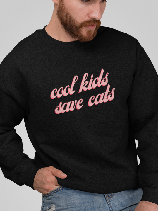 Cool Kids Save Cats | Crewneck
