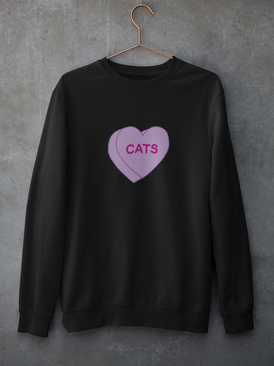 Cats Candy Heart | Crewneck