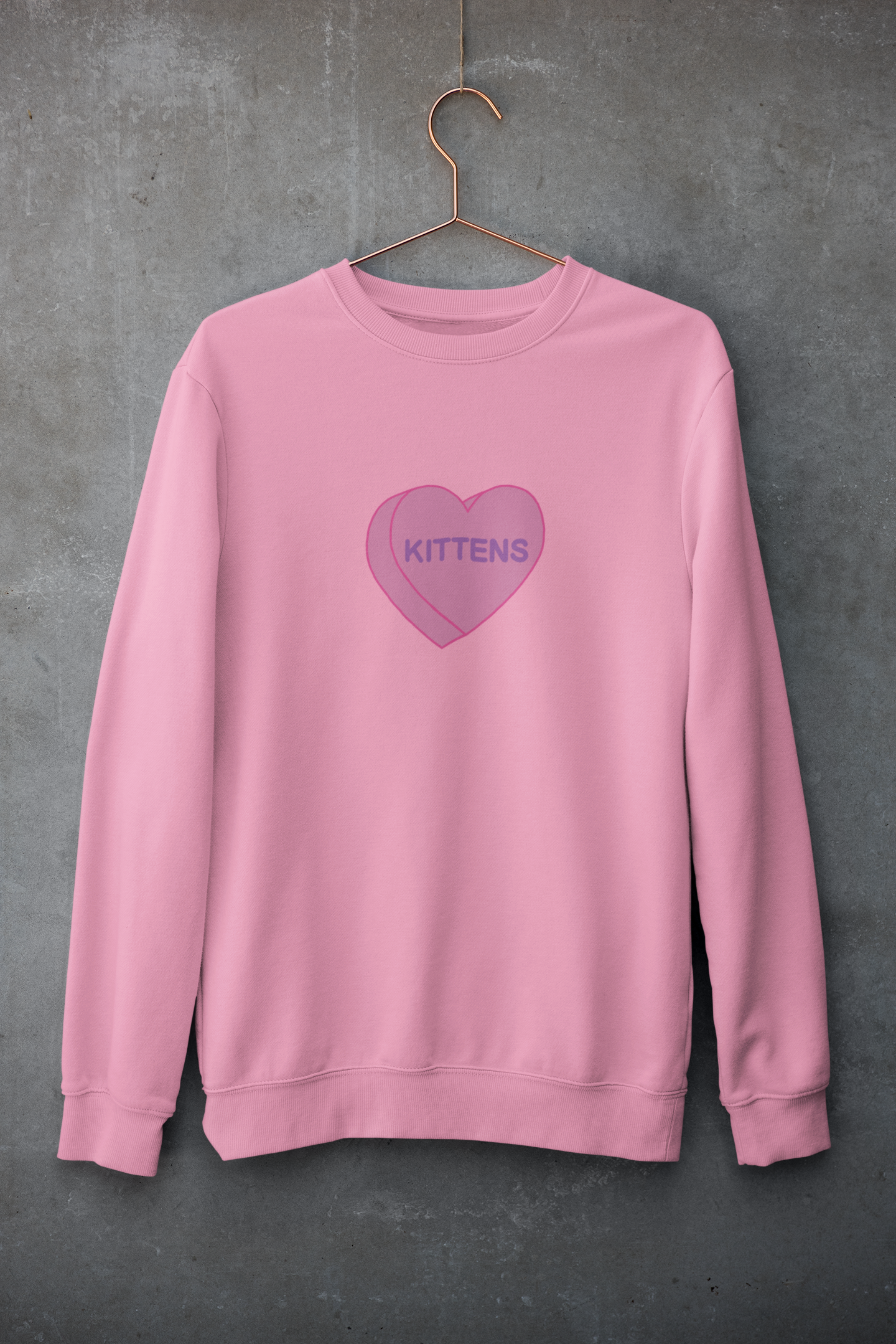 Kittens Candy Heart | Crewneck