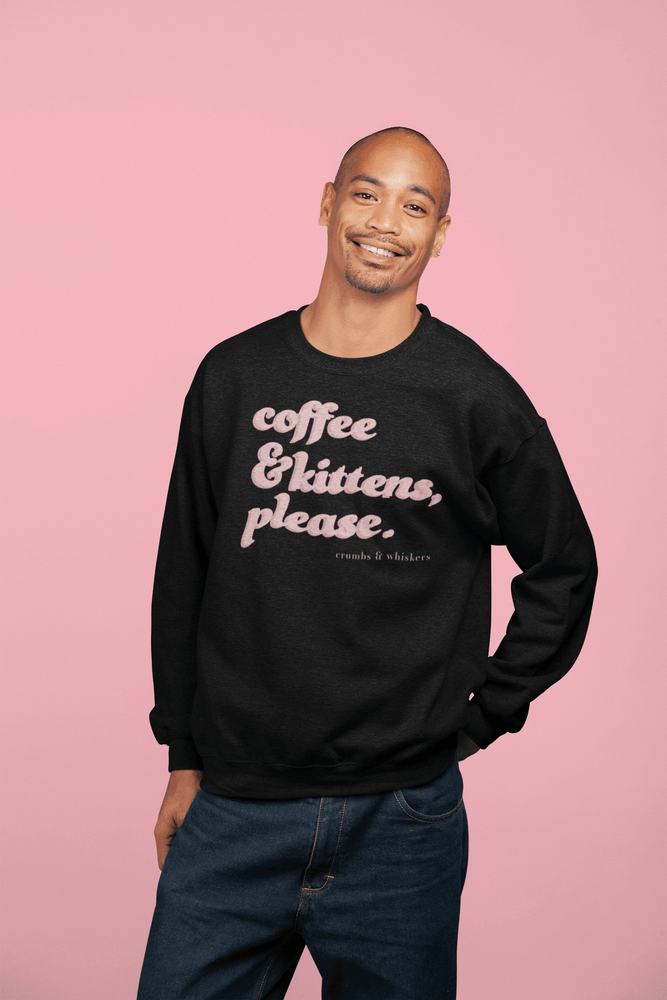 Coffee & Kittens (Pink Bubble) | Crewneck