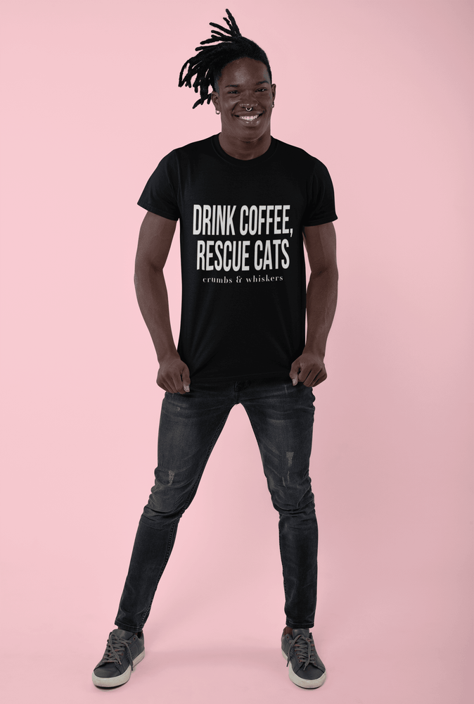 Drink Coffee, Rescue Cats | Tee