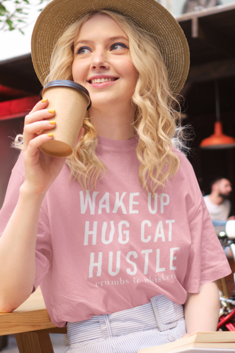Wake up, Hug Cat, Hustle | Tee