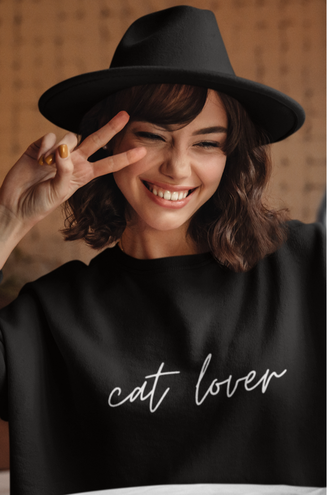 Cat Lover (Cursive) | Crewneck