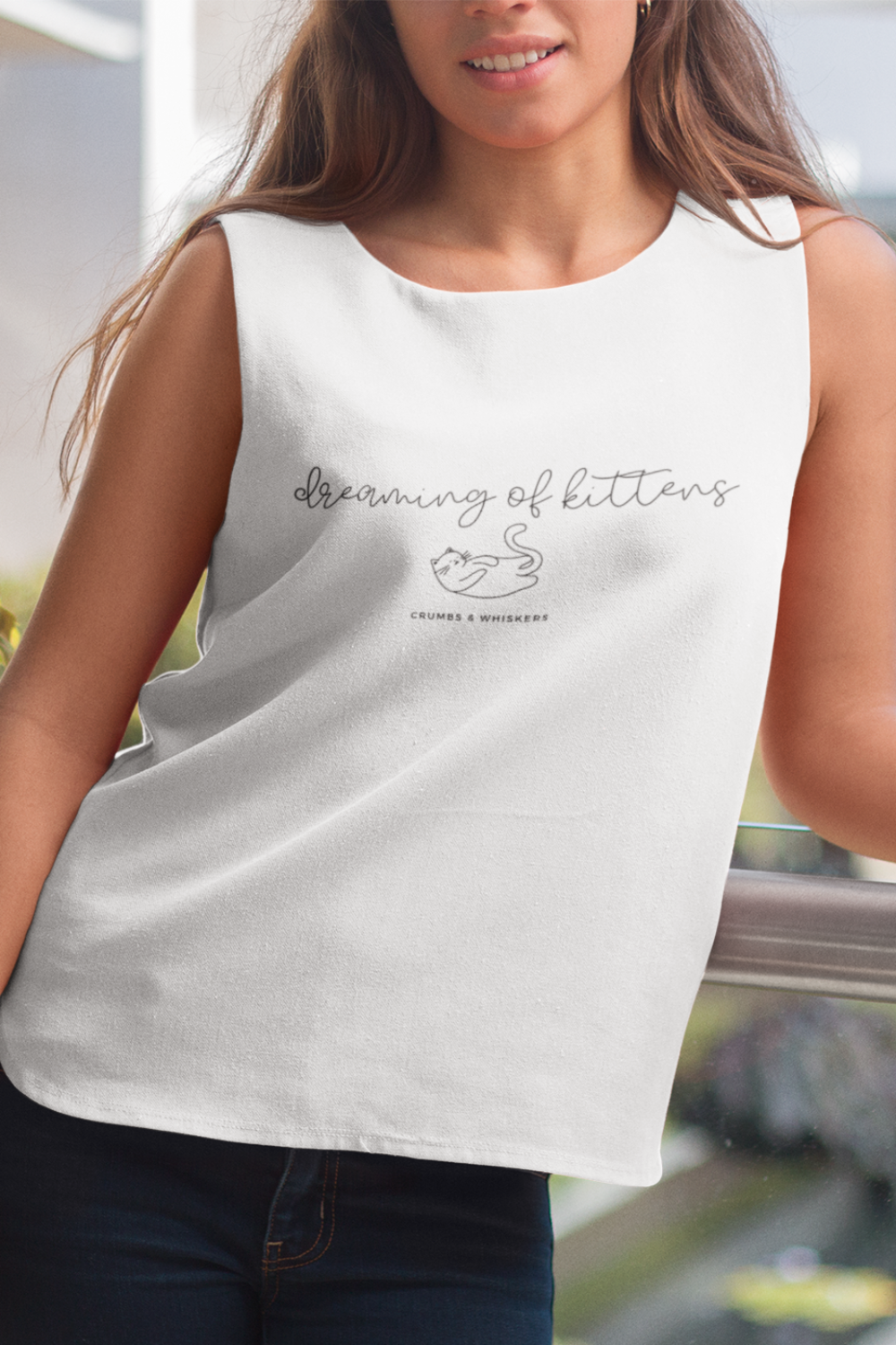 Dreaming of Kittens (Cursive) | Bro Tank
