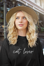 Cat Lover (Cursive) | Tee
