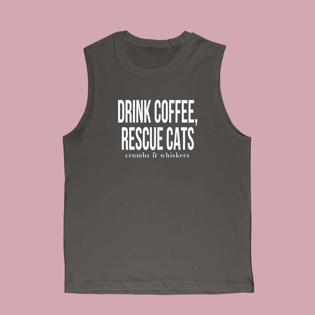 Drink Coffee, Rescue Cats | Bro Tank