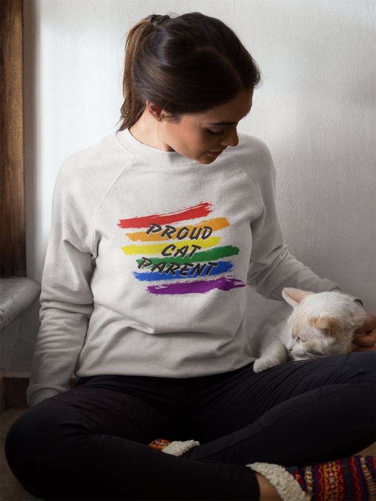 Proud Cat Parent (White) | Crewneck