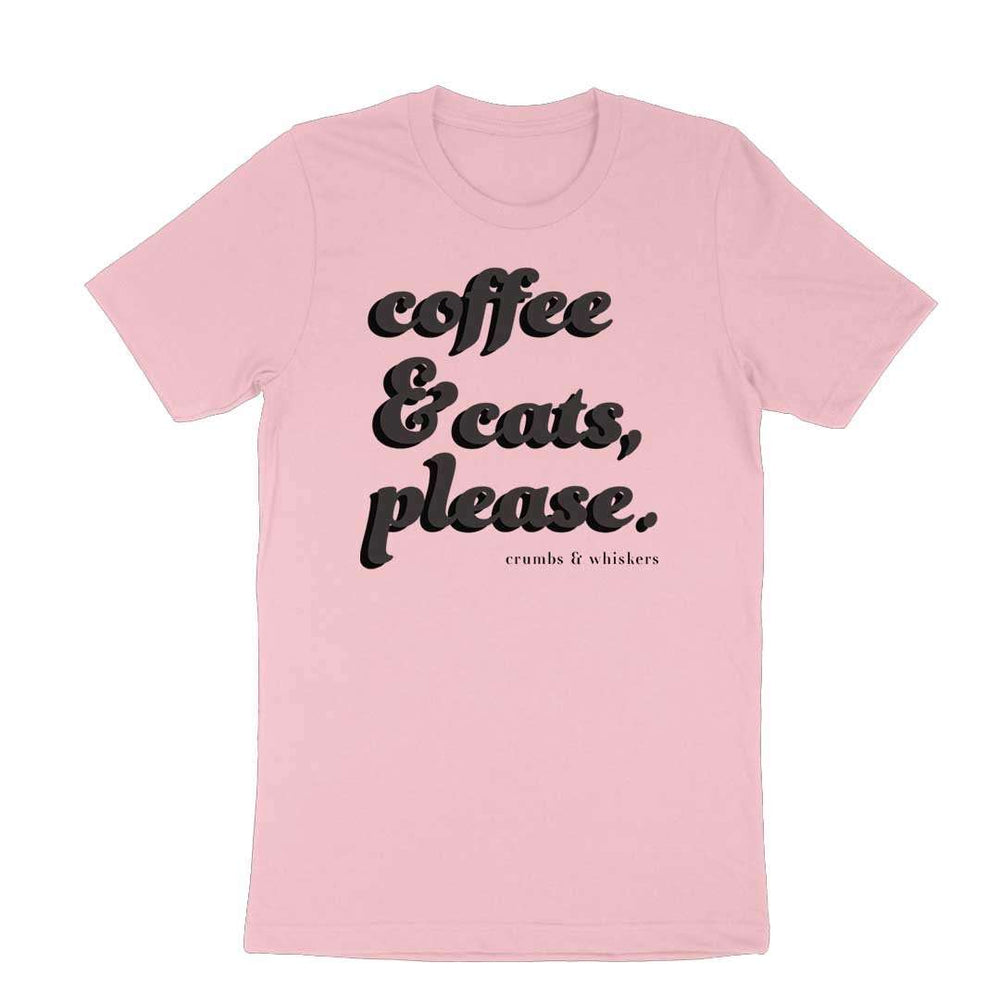 Coffee & Cats (Black Bubble) | Tee