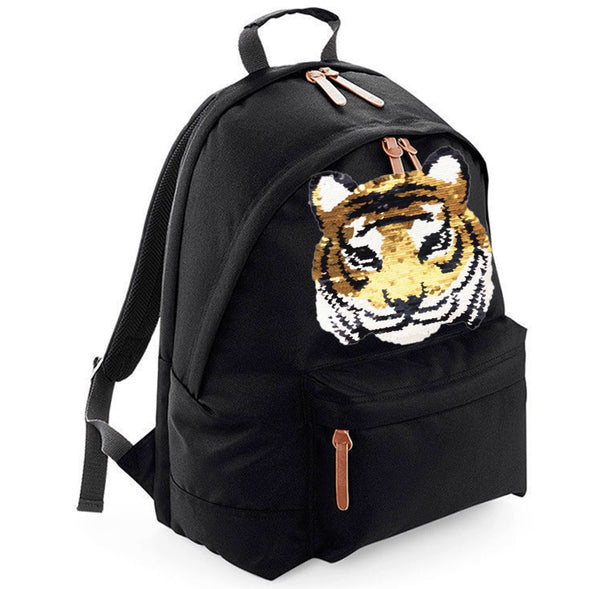 Reversible Sequin Tiger Maxi Laptop Bag