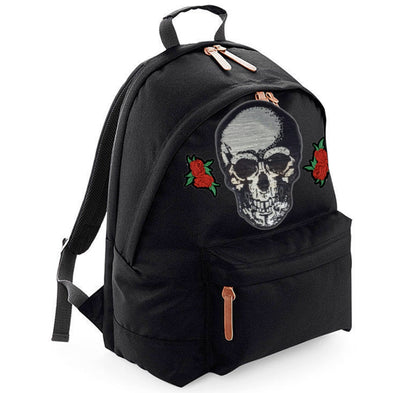 Silver Skull & Roses Maxi Laptop Bag
