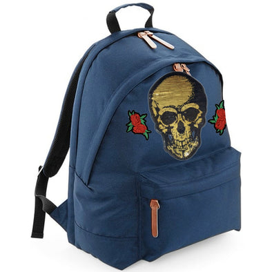 Gold Skull & Roses Maxi Laptop Bag