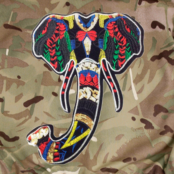 Elephant on Pale Camo