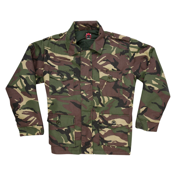 XL Silver Wings and Roses Camo Jacket
