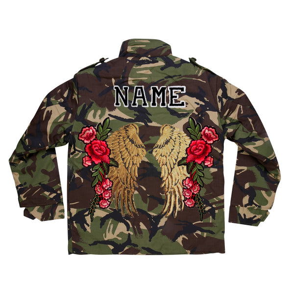 Gold Wings and Roses Camo Jacket