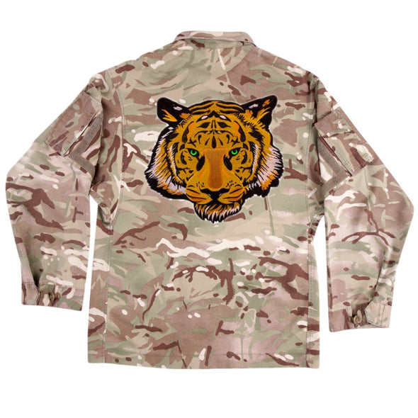 Green Eyed Tiger on Lightweight Camo