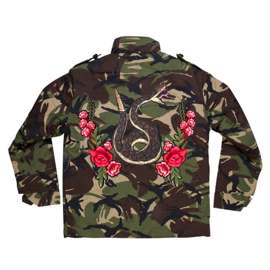 Green Snake and Roses Camo Jacket