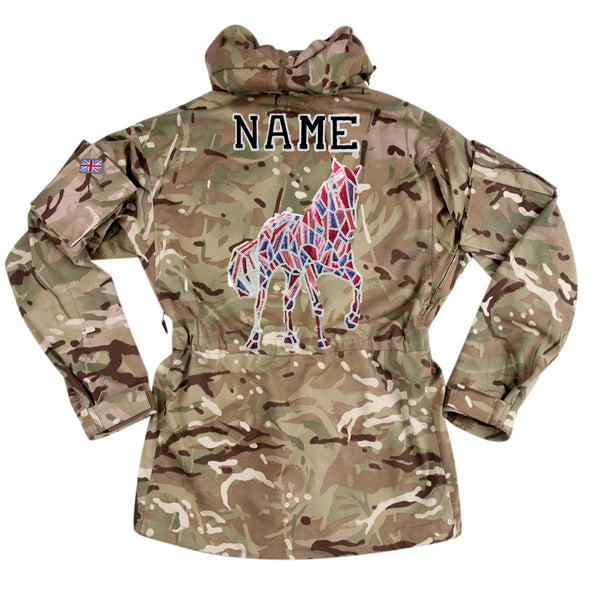 Mosaic Sequin Horse on Pale Camo