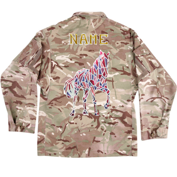 Mosaic Sequin Horse on Lightweight Camo