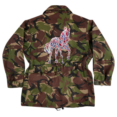 Mosaic Sequin Horse on Dark Camo