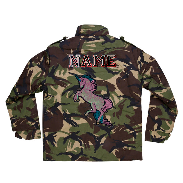 Pearly Sequin Unicorn Camo Jacket