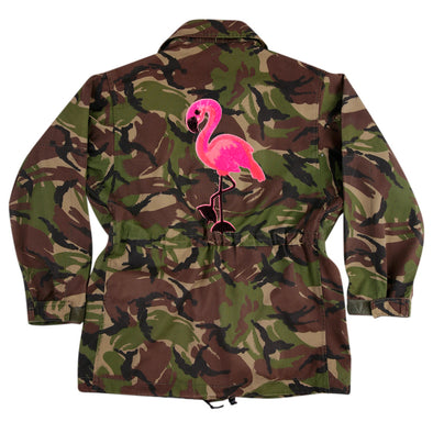 Pink Flamingo on Dark Camo