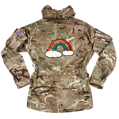 Reversible Sequin Rainbow on Pale Camo