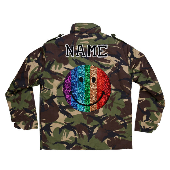 Rainbow Smile Camo Jacket