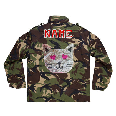 Reversible Sequin Cat Camo Jacket