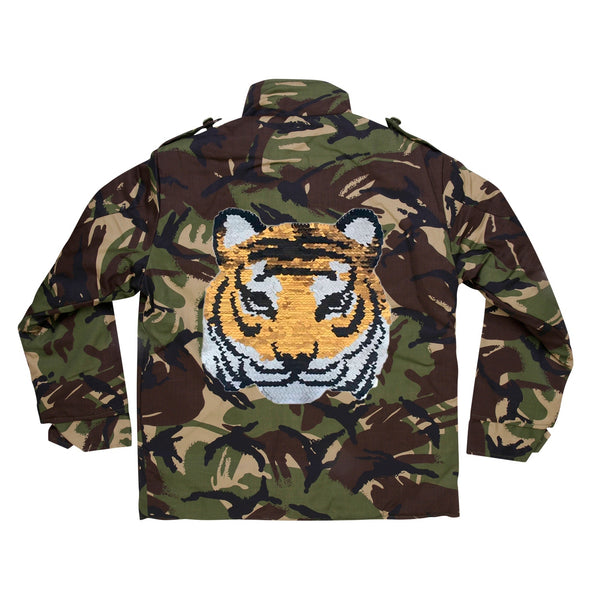 Reversible Sequin Tiger Camo Jacket