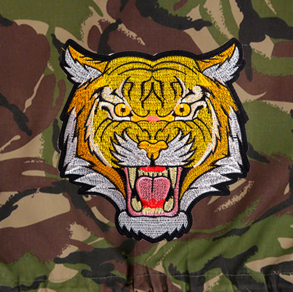 Roaring Tiger on Dark Camo