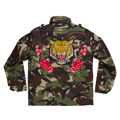 Roaring Tiger and Roses Camo Jacket
