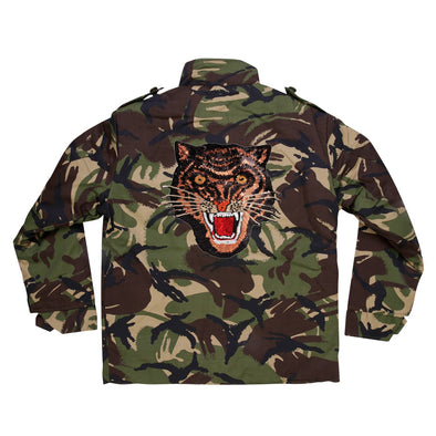 Rose Gold Sequin Tiger Camo Jacket