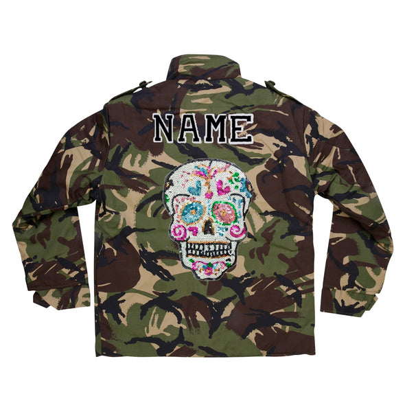 Sequin Candy Skull Camo Jacket