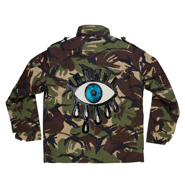 Sequin Eye Camo Jacket
