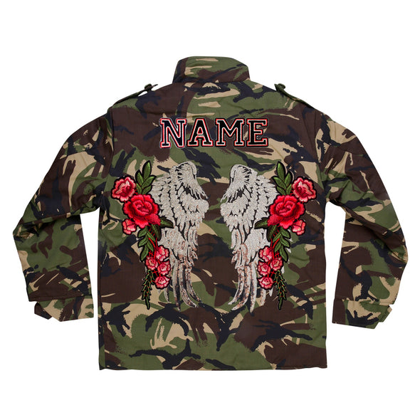 Silver Wings and Roses Camo Jacket