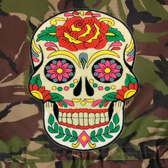 Day of the Dead on Dark Camo
