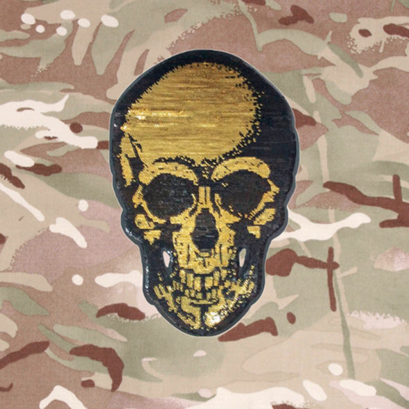 Gold Skull on Lightweight Camo