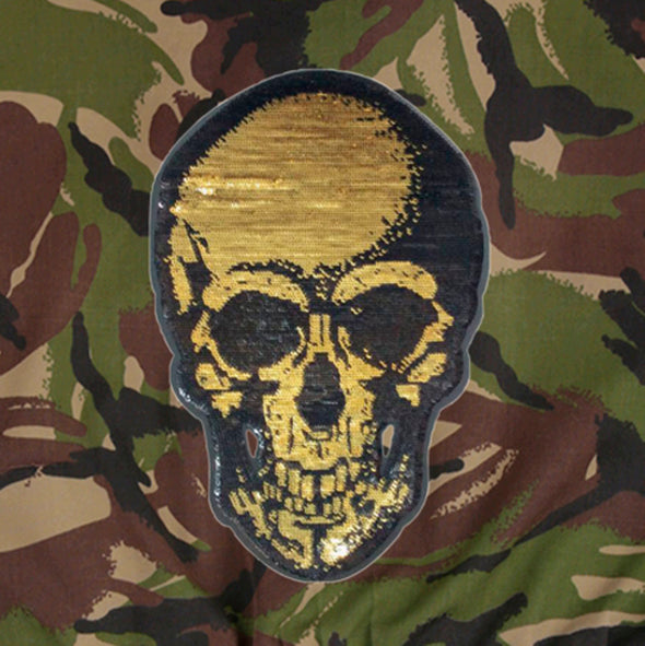 Gold Skull on Dark Camo