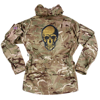 Gold Skull on Pale Camo